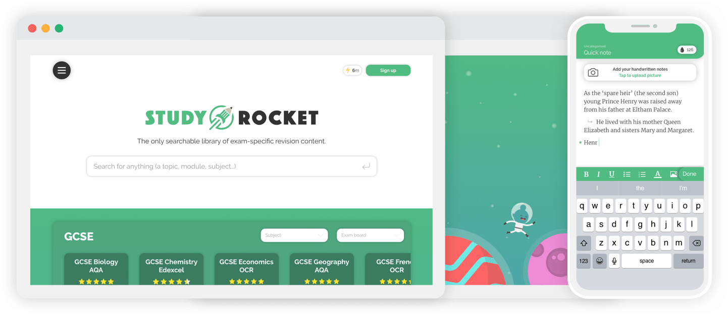 Study Rocket web app portfolio design and development example